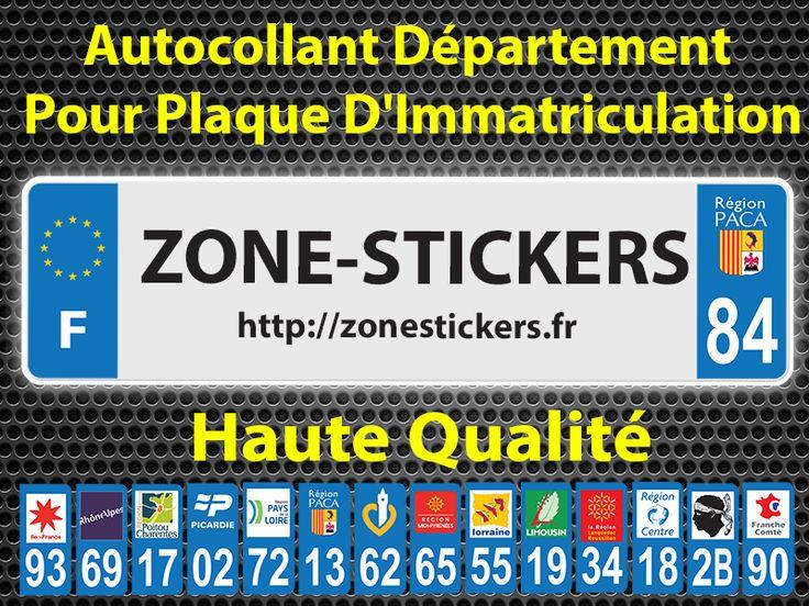 Stickers Pour Plaques D'immatriculation  Haute Qualité  https://zonestickers.fr/220-sticker-immatriculation #Sticker #Autocollant #ZoneStickers