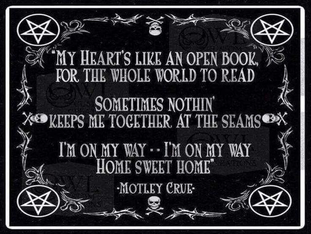 Home Sweet Home Motley Crue Meaningful Lyrics Motley