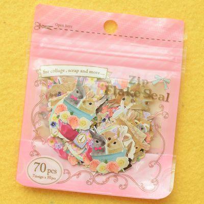 Бесплатная доставка 70 шт./упак. кролик наклейки для коллаж декор отмечает скрапбукинг Diy ремесла дневник карта ручной работы канцтовары Multif c91