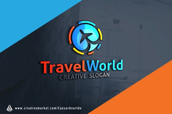 World Travel Logo Template by @Graphicsauthor