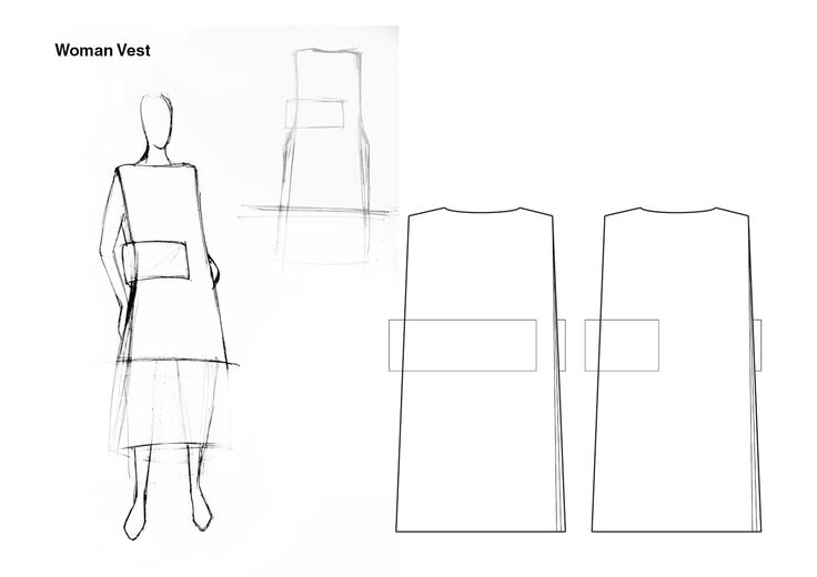 #WHITE project - Female vest sketches #fashion #design #clothing #accessories #fabrics