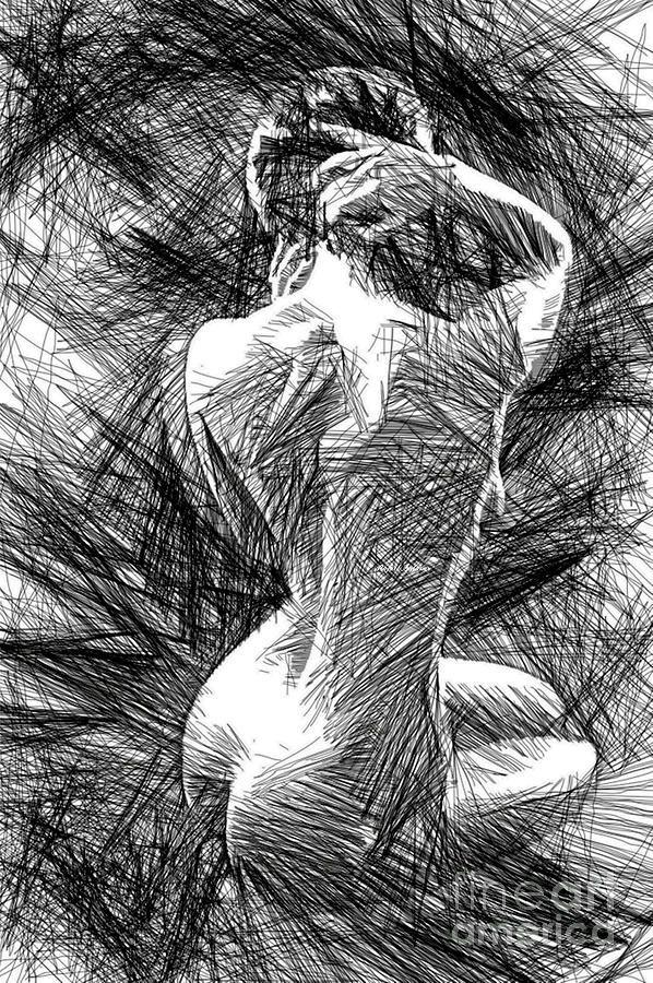 Classic Pose 1458 Digital Art by Rafael Salazar
