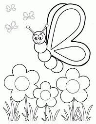 afbeeldingsresultaat voor vlinder bloem kleurplaat zomer