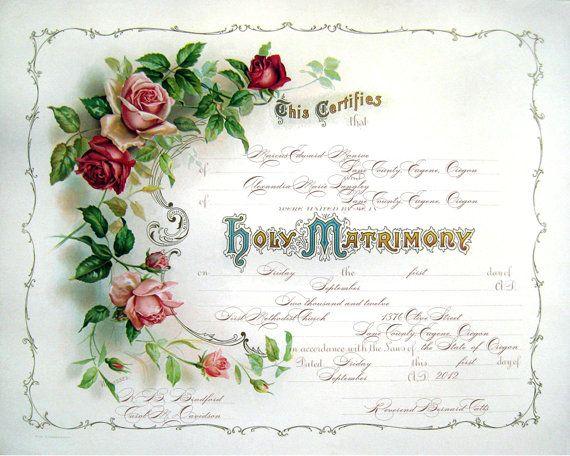 21 best Wedding images on Pinterest Wedding, Wedding certificate - wedding certificate template