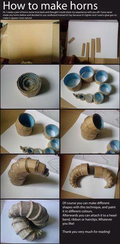 Oishari: DIY Lightweight Costume Horns