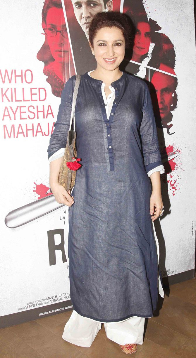 Cast members Tisca Chopra, Kay Kay Menon, veteran Bollywood actress Shabana Azmi and a host of other celebs turned up at the film's screening held at a Mumbai multiplex