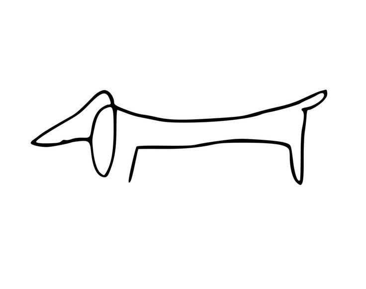 Picasso Line Drawing Tattoo : Picasso dachshund line drawing tiny tattoo