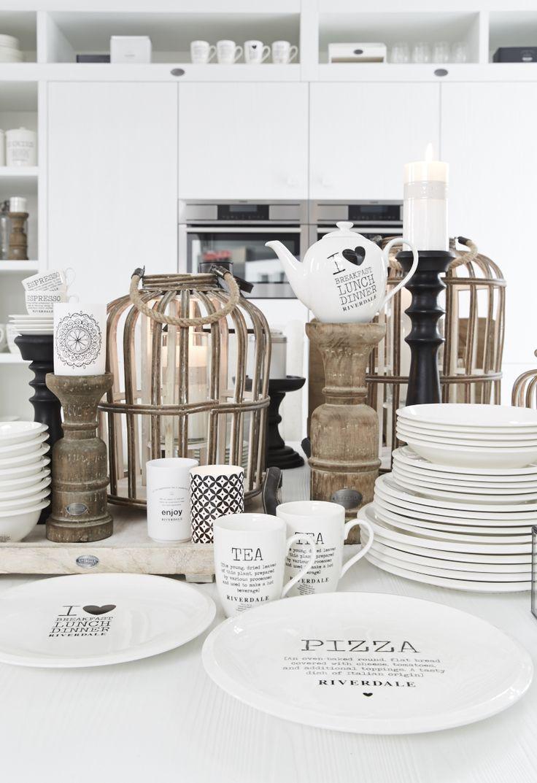 Keuken accessoires in witte keuken van Riverdale