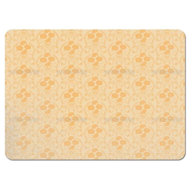 Uneekee Rose Orange Placemats (Set of 4) (Rose Orange Placemat) (Polyester)