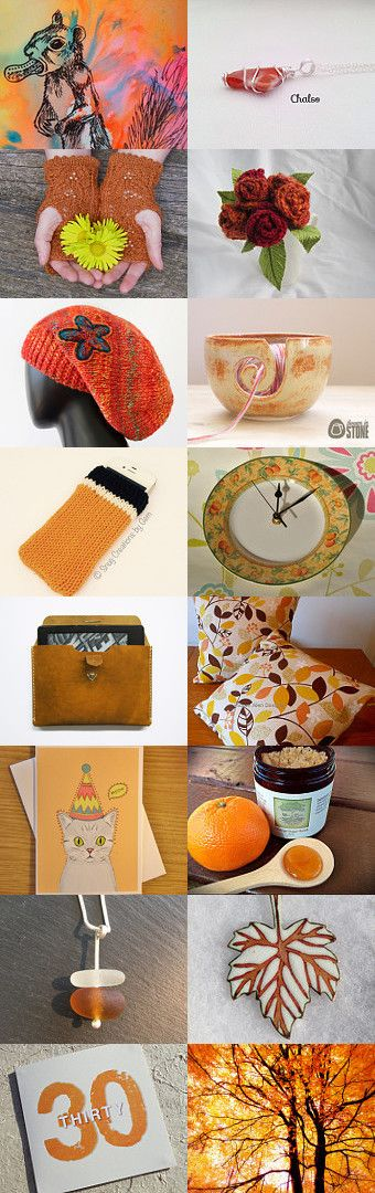 Orange is the new black by Snug Creations on Etsy--Pinned with TreasuryPin.com