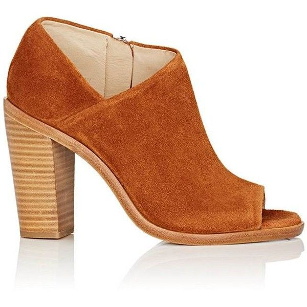 Rag & Bone Women's Mabel Ankle Boots ($249) ❤ liked on Polyvore featuring shoes, boots, ankle booties, tan, chunky heel bootie, high heel ankle boots, open toe ankle booties, bootie boots and open toe booties