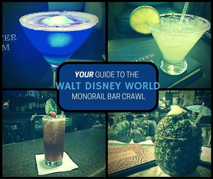 From rooftops lofts to tiki bars, here's your guide to getting around the Walt Disney World resorts that make up the monorail bar crawl.