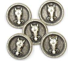 5 металлическая лошадиная голова пуговицы размер 24 мм никель цвет шитья рукоделия