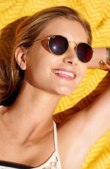 ray ban rb3475q sunglasses  ray ban camo print round 50mm sunglasses