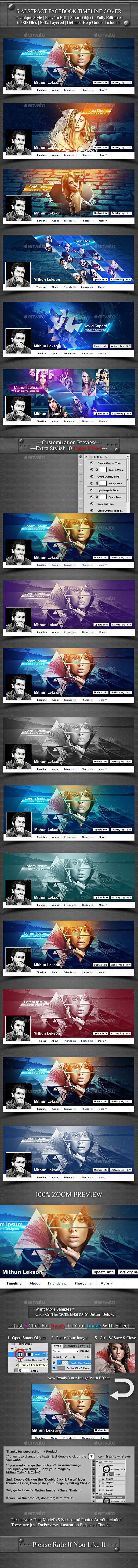 6 Abstract Facebook Timeline Cover Template PSD #design Download: http://graphicriver.net/item/6-abstract-facebook-timeline-cover/14401065?ref=ksioks