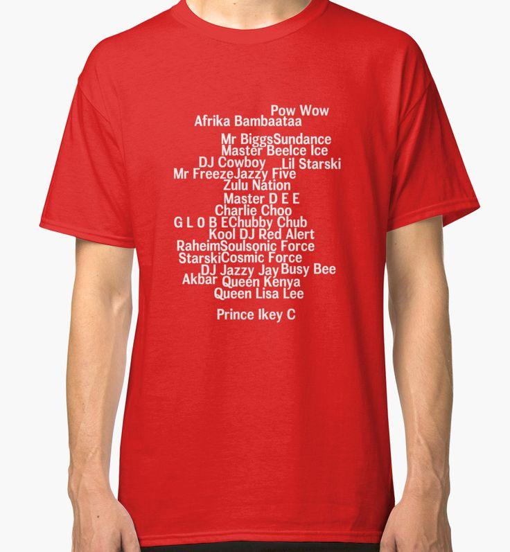 'Zulu Nation Members old school Hip Hop ' Classic T-Shirt by ocansey