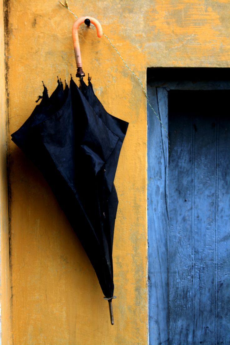 #Umbrella #India #Village #Yellow