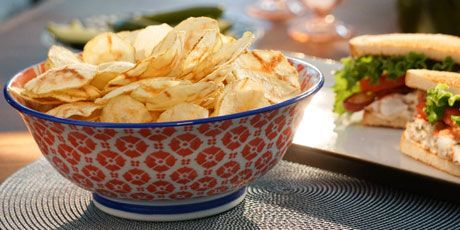 Microwave Potato Chips ~ Valerie Bertinelli