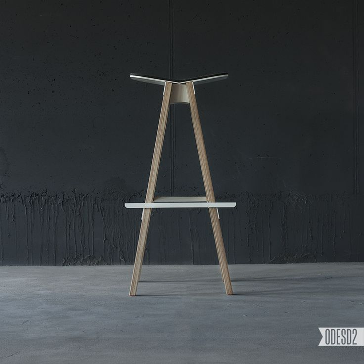 C5 bar stool by ODESD2. Designer: Svyatoslav Zbroy.