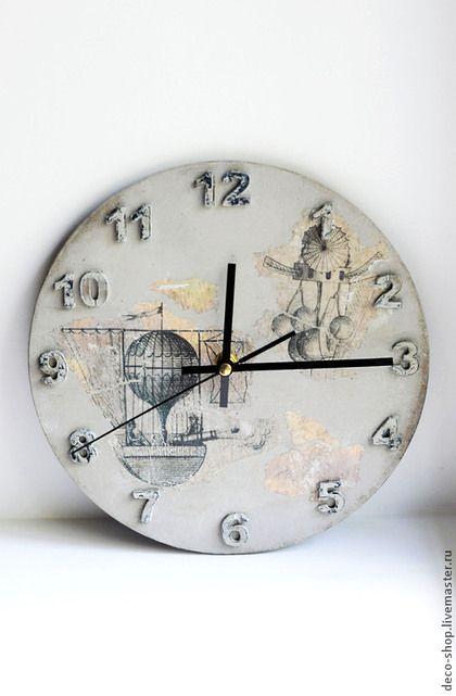 """Часы для дома ручной работы. Ярмарка Мастеров - ручная работа Часы настенные """"Время летать"""". Handmade."""