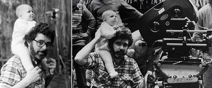 Rare and beautiful celebrity photos | George Lucas and Amanda Lucas