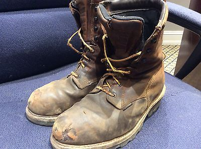 mens 4417 Red Wing logger boots insulated waterproof steel toe 9.5 D well worn