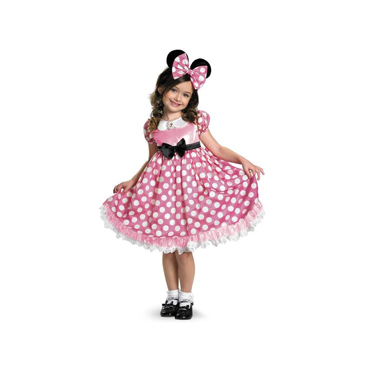 Disney Mickey Mouse Clubhouse Minnie Mouse Glow in the Dark Costume - Toddler / Kids, Girl's, Size: Medium, Pink