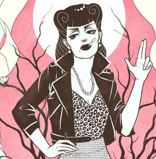 Sometimes when i chop my own bangs i feel that i will be mistaken for a rockabilly girl