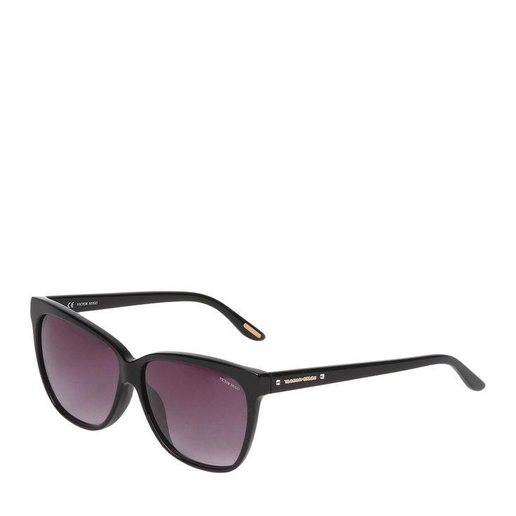 Óculos De Sol Quadrado Preto & Fumê   VICTOR HUGO