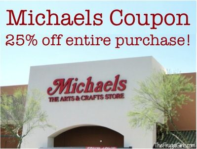 Michaels coupon entire purchase in store