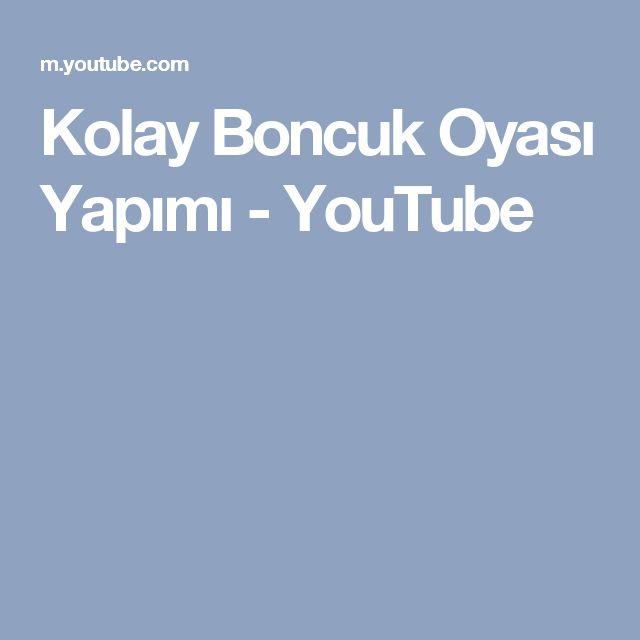 Kolay Boncuk Oyası Yapımı - YouTube