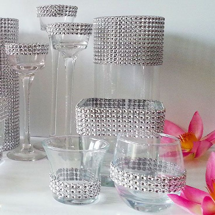 """4.75"""" Silver gold pink DIAMOND MESH WRAP ROLL SPARKLE RHINESTONE Crystal Ribbon available in 14colors-in Event & Party Supplies from Home & Garden on Aliexpress.com   Alibaba Group"""