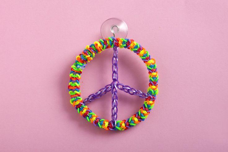 Rainbow Loom Peace Ornament