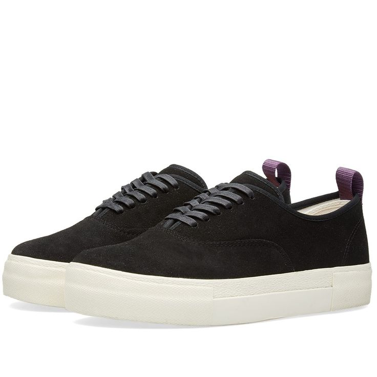 Established in Stockholm in 2013, Eytys create refined, if ever so slightly idiosyncratic re-workings of classic footwear styles. The Mother, their original design, is an elevated new take on the classic deck shoe silhouette. Constructed with suede uppers, sat on top of a built up midsole with an incredibly comfortable cork insole, they are finished off with the brands signature purple nylon heel tab.  Suede Uppers Stitched Detail Built Up Midsole Canvas Insole Nylon Heel Tab Rubber Outsole