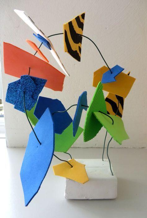 Kunstwerk, thema kunst voor kleuters, http://kleuteridee.nl , Art theme preschool 1
