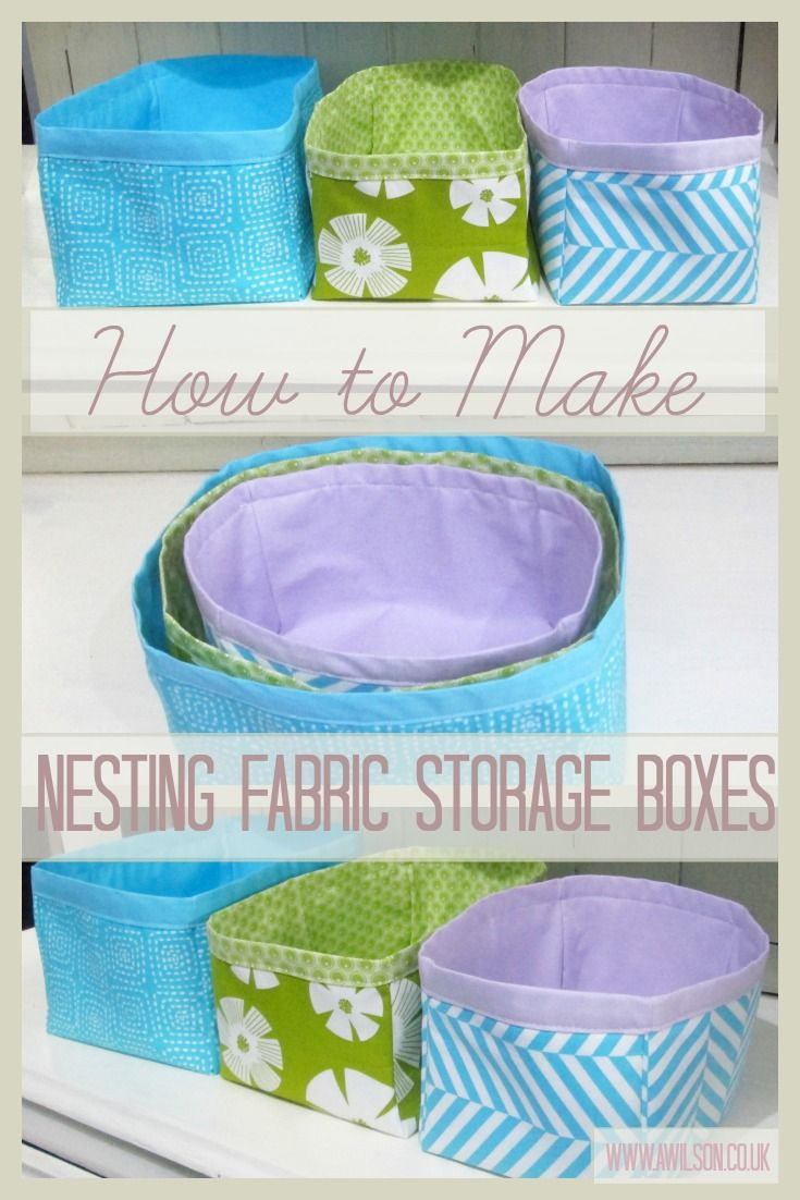 Easy Sewing Tutorial for Fabric Nesting Boxes | how to make nesting fabric storage boxes