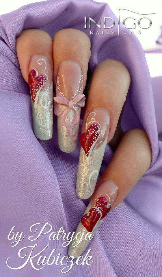 Acrylic Nails valentine's day