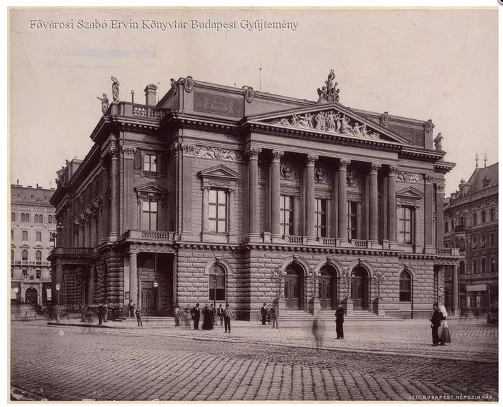 A Népszínház épülete 1895 után - Forrás bpkep.fszek.hu