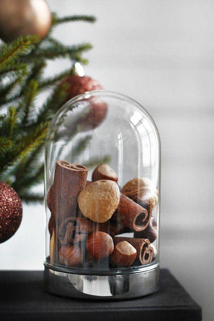 cloche en verre et la cloche à gateau en verre, jolie decoration de noel originale et pas cher