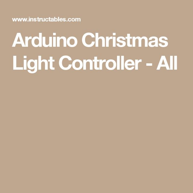 Arduino Christmas Light Controller - All