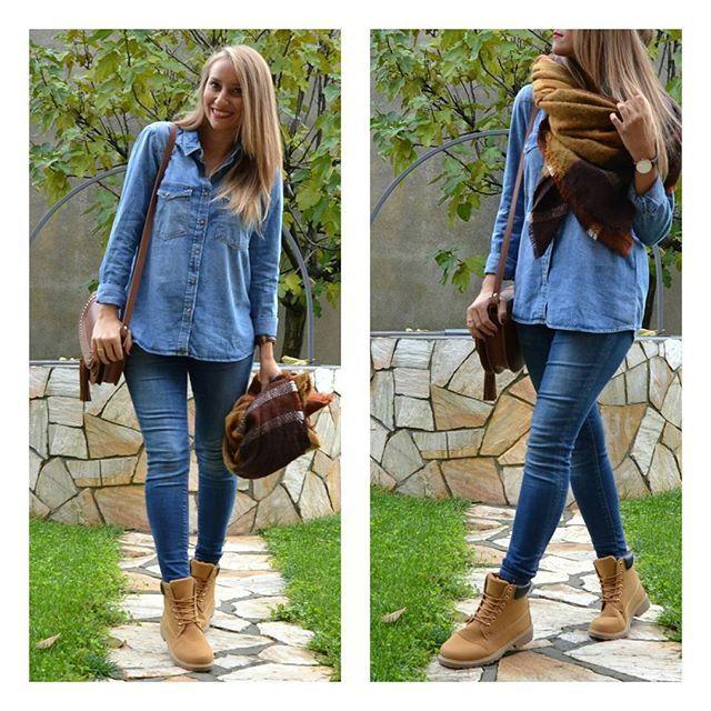 Súper cómoda hoy✌✌ Camisa y bufanda #zara (new)  Botas @shif_store (new) Bolso #mango (new) Jeansb#zara (old)  #ootd#outfotoftheday #look#comfy