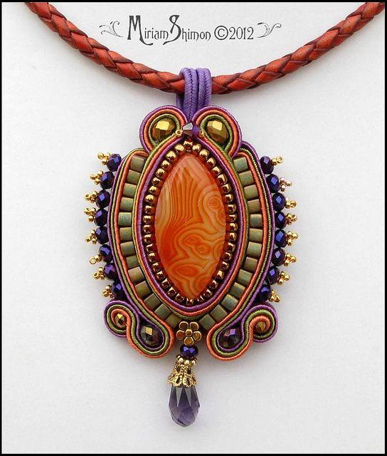 Amber  Soutache Pendant by Cielo Design, via Flickr
