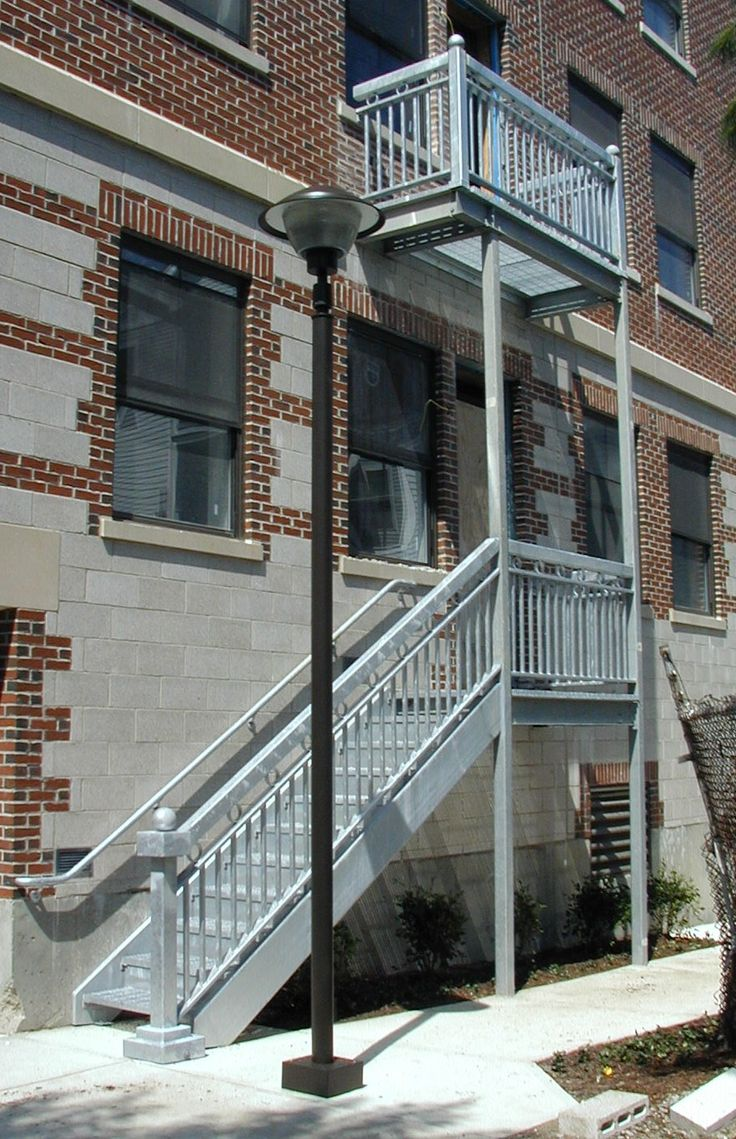 Best Hot Dipped Galvanized Exterior Stairs Located At The 640 x 480