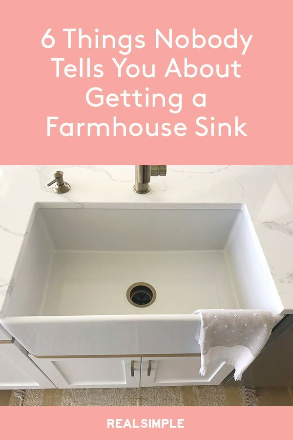 6 Things Nobody Tells You About Getting A Farmhouse Sink
