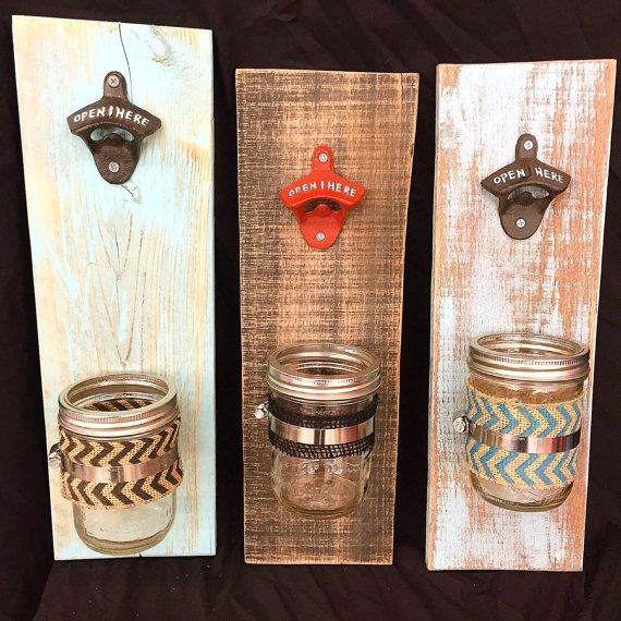 Bottle Openers with cap catcher by TurquoiseOwlDesign on Etsy #bottle #cap #opener