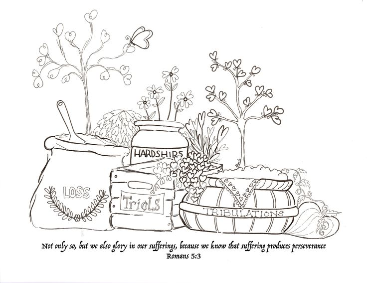 Endurance xox Scripture Coloring