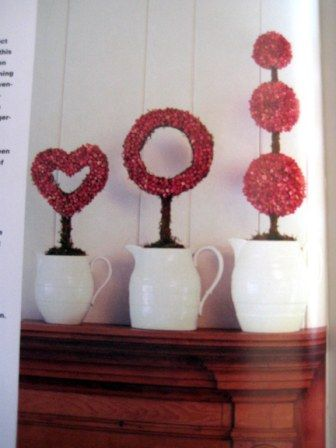 Topiary Forms: Dried rosebuds may be 'glued' to a variety of topiary forms for a fragrant and pleasing home decoration!