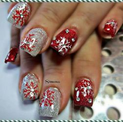 18 best nails for christmas images on pinterest christmas 30 festive christmas acrylic nail designs prinsesfo Choice Image