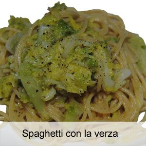 Spaghetti con la verza
