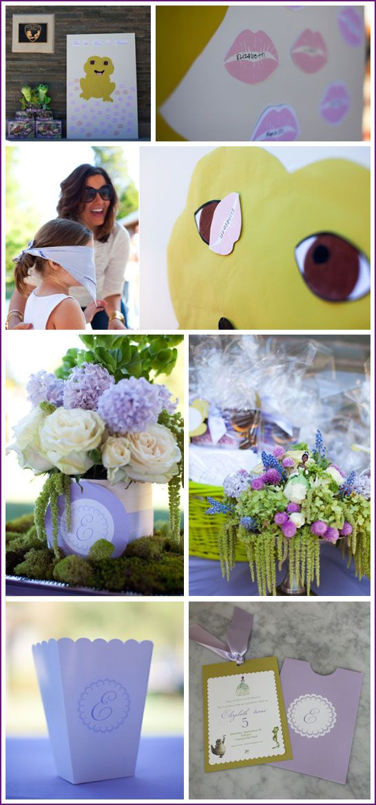 """Adorable princess and the frog party--love the """"pin the kiss on the frog"""" game!"""